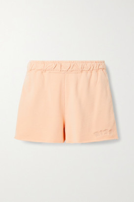 Nike Embroidered French Cotton-blend Terry Shorts - Peach