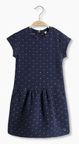 Esprit Quilted dress with glitter effect