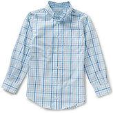 Class Club Big Boys 8-20 Button-Front Long-Sleeve Checked Shirt