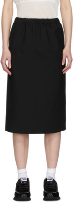 Comme des Garçons Comme des Garçons Black Wool Pull-On Skirt