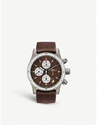 Selfridges Bremont BB100 Boeing 100 titanium and leather chronograph watch
