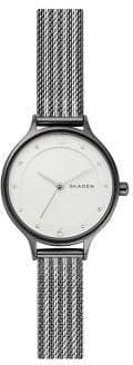 Skagen Anita Two-Tone Ripple-Mesh Watch