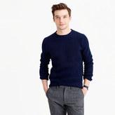 J.Crew Cotton textured-stitch crewneck sweater