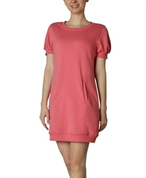 Ultra Flirt Juniors' Puff-Sleeve Jersey Dress