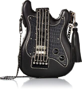 Mary Frances Turn It Up Embellished Guitar Crossbody Handbag
