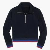 J.Crew Half-zip jacket in sport stripe