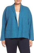 Eileen Fisher Plus Size Women's Lightweight Boiled Wool Jacket
