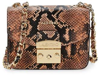 Mario Valentino Mini Bijou Snakeskin-Embossed Leather Crossbody