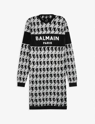 Balmain Houndstooth knitted jumper dress 12-16 years