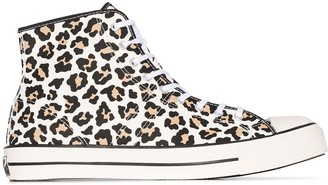 Converse Chuck Taylor 70 Lucky Star leopard-print high-top sneakers