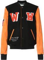 Off-White eagle varsity jacket