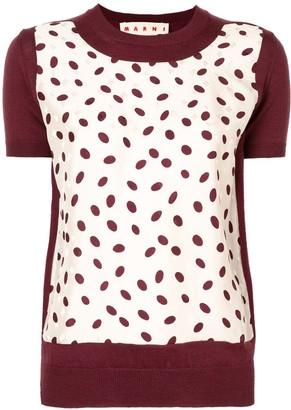 Marni Polka-Dot Print Knitted Top