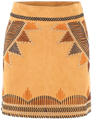 Alberta Ferretti Embroidered Mini Skirt