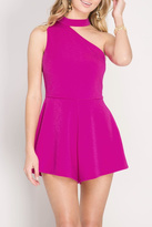 She + Sky One Shoulder Romper