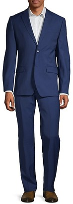 Ben Sherman 2-PieceSlim Fit Two-Button Stretch Wool-Blend Suit