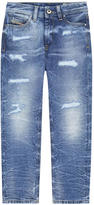Diesel Reen-J girl regular straight fit jeans with Swarovski rhinestones