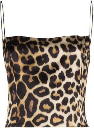 GAUGE81 Sakai leopard-print slip top