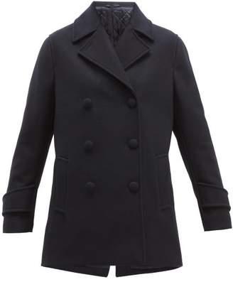 Officine Generale Eline Double-breasted Wool-blend Pea Coat - Womens - Navy