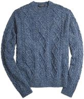 Brooks Brothers Cable Knit Crewneck Sweater