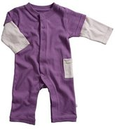Baby Soy Layered Sleeves One Piece - Eggplant - 6-12 months