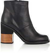 Jil Sander Navy WOMEN'S COLORBLOCKED-HEEL LEATHER ANKLE BOOTS