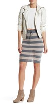 Double Zero Striped Sweater Skirt
