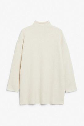Monki Soft knit tunic dress