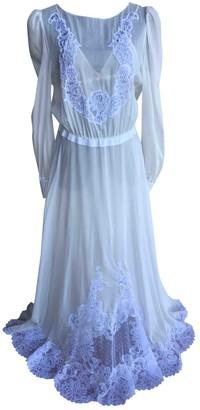 Francesco Scognamiglio White Silk Dress for Women