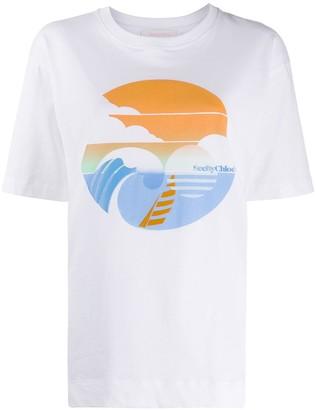 See by Chloe logo detail T-shirt