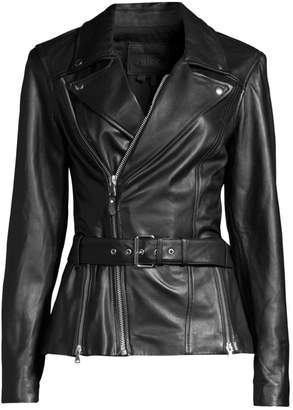 Paige Dita Belted Leather Jacket
