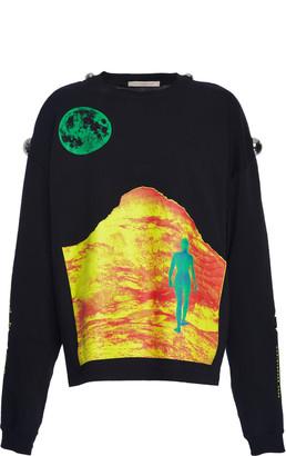 Christopher Kane Mountain Lady Long Sleeve Tshirt