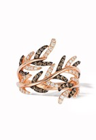 Effy Jewelry Effy Espresso 14K Rose Gold Cognac and White Diamond Ring, 0.62 TCW