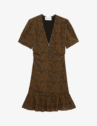 The Kooples Sport Leopard-print crepe dress