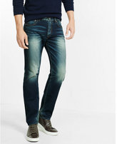 Express straight leg slim fit jean