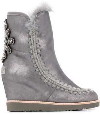 Mou embellished high Eskimo boots