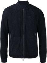 HUGO BOSS bomber jacket - men - Cotton/Leather/Polyamide/Spandex/Elastane - 50