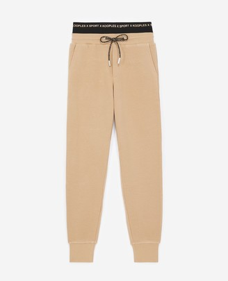 The Kooples Camel joggers with black elastic logo band