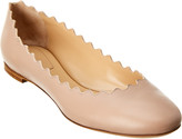 Chloé Lauren Scalloped Leather Ballerina Flat