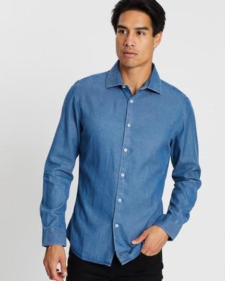 SABA Max Chambray Long Sleeve Slim Shirt