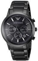 Giorgio Armani Emporio Classic AR2453 Men's Black IP Stainless Steel Chronograph Watch
