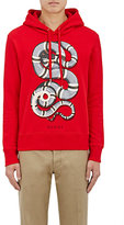 Gucci Men's Snake-Graphic Cotton French Terry Hoodie-RED
