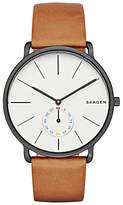 Skagen Skw6216 Hagen Leather Strap Watch, Tan/white