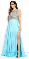 Mac Duggal Embellished Halter Chiffon Prom Dress