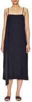 Helmut Lang Side Drape Asymmetrical Hem Dress