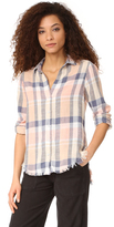 Bella Dahl Frayed Hem Button Down Shirt