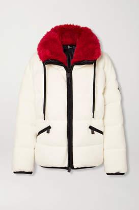 Moncler Oversized Faux Fur-trimmed Quilted Fleece Down Ski Jacket - Ivory