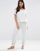 Asos Check Tee & Jogger Pajama Set