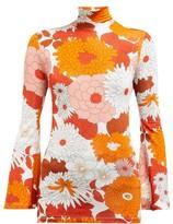 Dodo Bar Or Brigitte Floral-print Roll-neck Top - Womens - Orange Multi