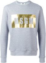 MSGM logo print sweatshirt - men - Cotton/Viscose - M