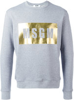 MSGM logo print sweatshirt - men - Cotton/Viscose - XS